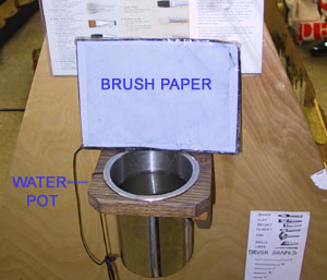 Water Pot and Brush Paper
