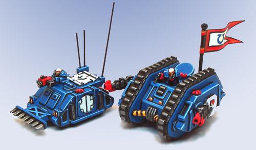 Epic Command Rhino and Landraider Mk1