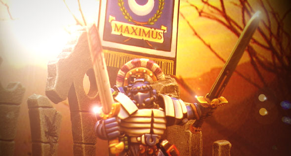 Maximus in battle